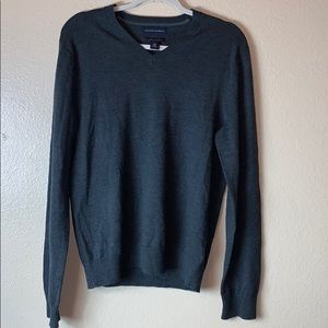 Banana Republic Mens V-Neck Sweater sz M green